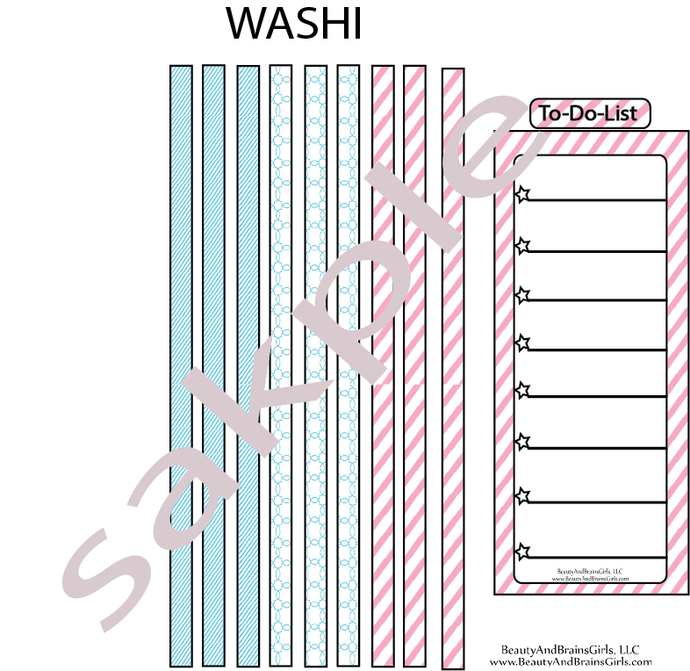 Printable Washi- Printable To do list-Functional Stickers Printable