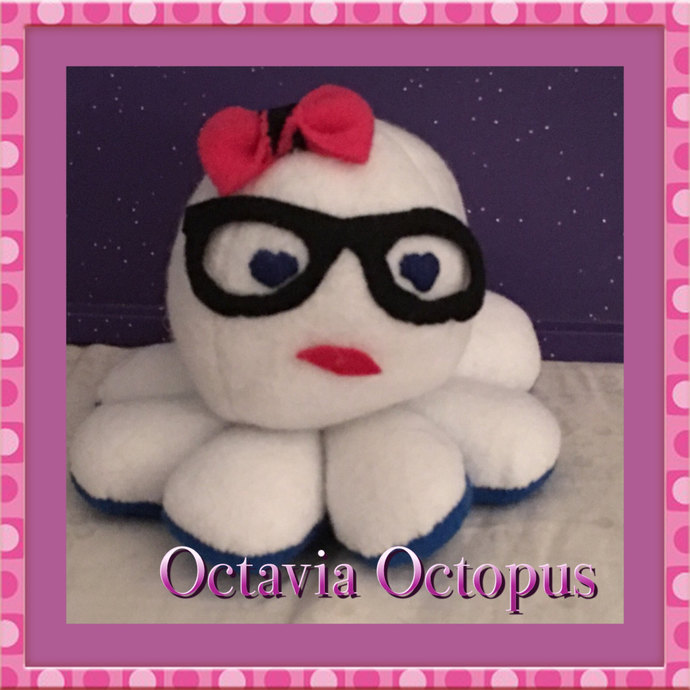 Octavia the Octopus plush ~Handsewn with love