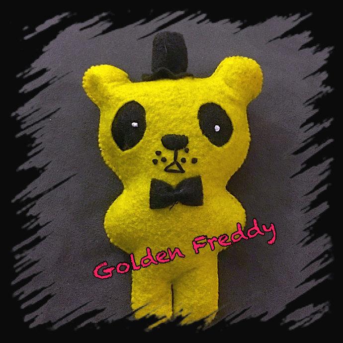Golden Freddy FNAF Felt Plush ~hand sewn with love