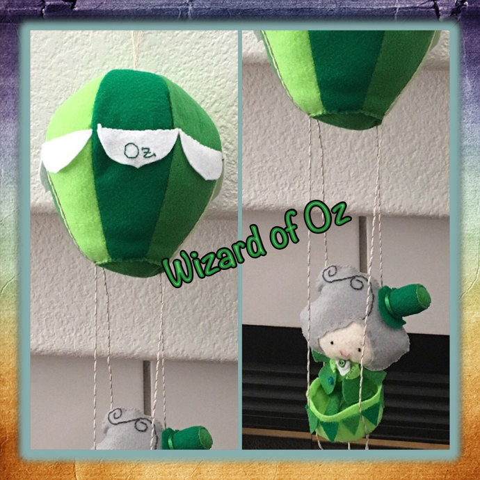 Wizard of Oz in his Hot Air Balloon ~handsewn treasures