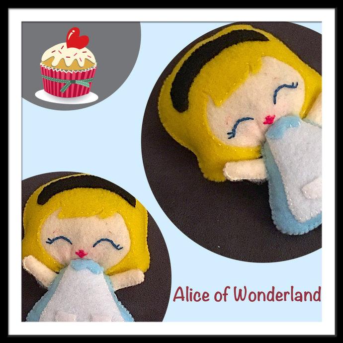 Alice in Wonderland felt plush ~hand sewn with love