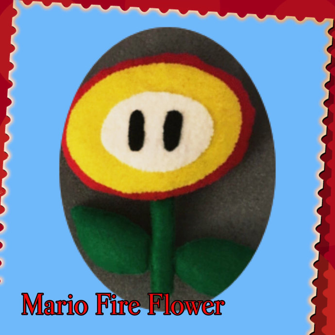 Mario Pals Fire Flower Power-Up Felt Plush