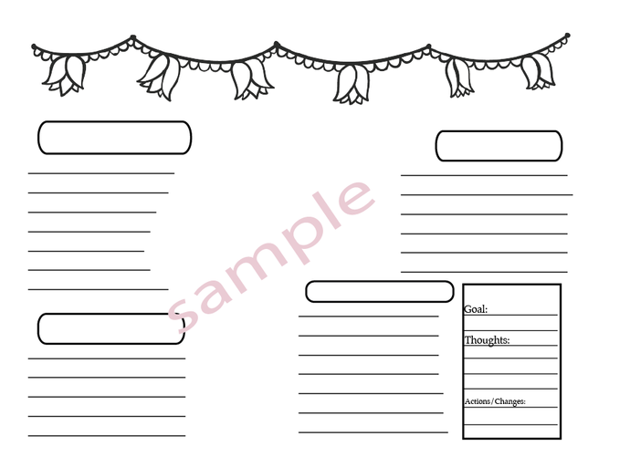 Printable Washi Tape - Printable To do list-Functional  Printable Planner Happy