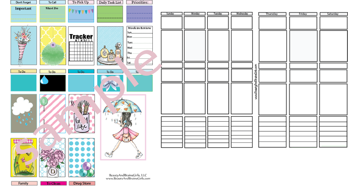 Printable Warship Tape- Open Ended To Do Page  - Functional  Printable Planner