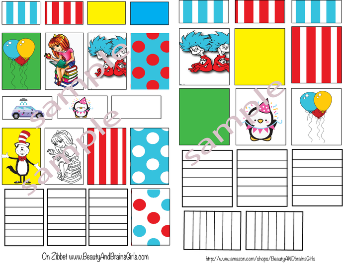 PART B- Dr. Seuss- Happy Planner to be Used with my of Full Box half Box To Do-