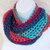 Infinity Moebius Scarf, spiral crocheted in Bright Harvest Multi lightweight