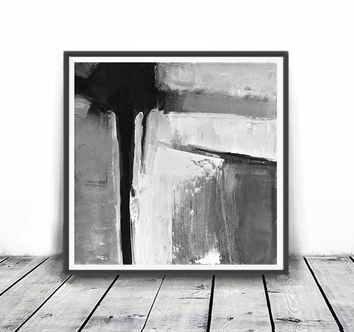 Minimalist Poster Abstract Wall Art Prints Abstract Painting Scandinavian Print Black White Grey Minimalist Art Print Printable Art