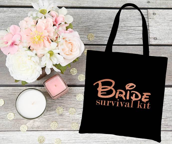 Disney inspired Bride Survival Kit Bag, Bride tote bag, bride bag, bride to be