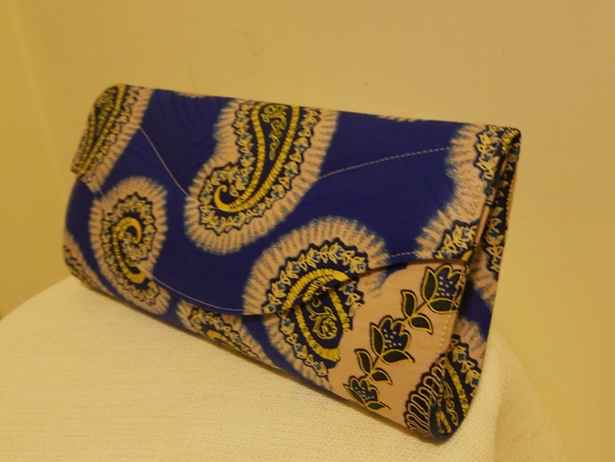 Stylish African Print Clutch