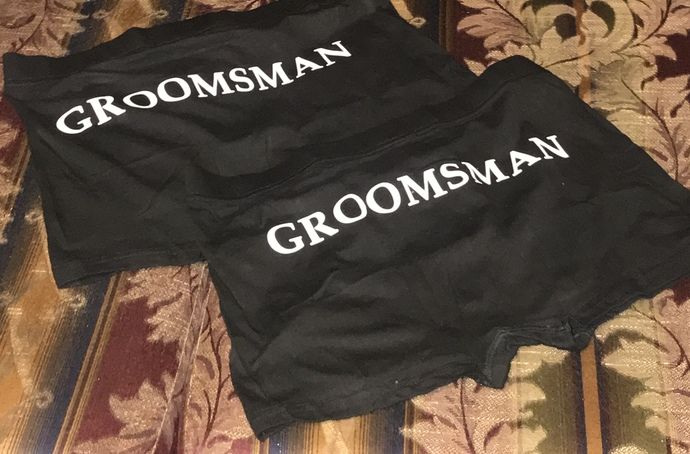 Personalized Groom's / Groomsmen/ Groom's Party Boxer Briefs