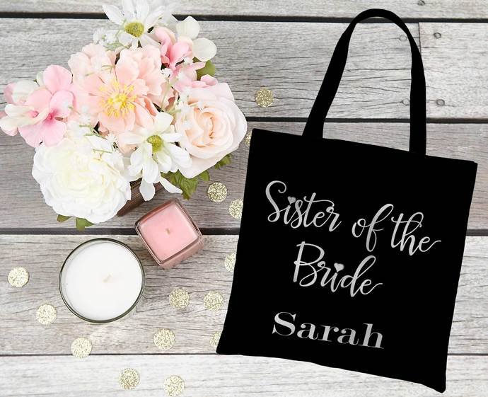 Sister of the Bride tote, Sister of the Groom Totes, sister of the bride gift,