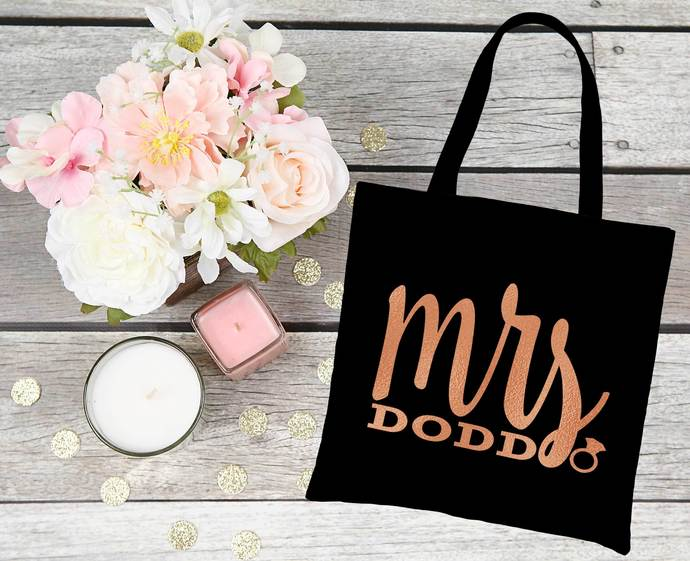 Personalized Mrs. bag, Bride survival kit bag, Bride to be gifts