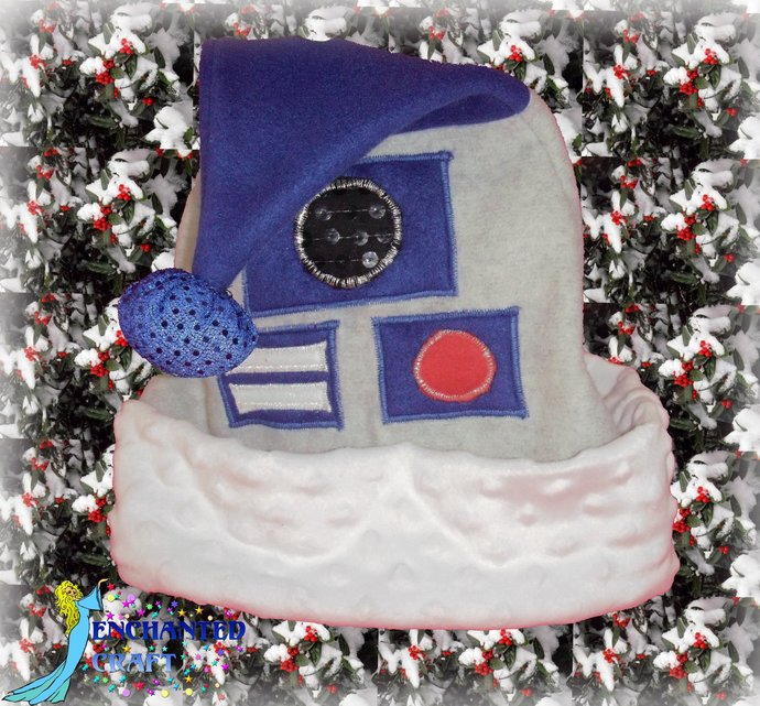 R2D2 SANTA hat for the STAR WARS fan