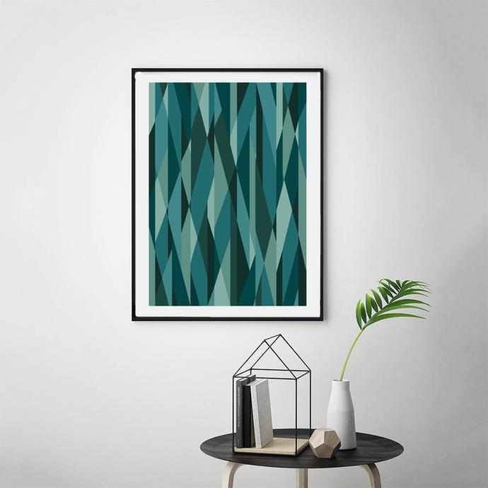 Printable Geometric Poster, Scandinavian Print, Nordic Poster, Modern Geometric