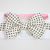 Little Guy Bow Tie - Cream with Black Mini Dots