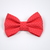 Large Cotton Bow Clip//Clip on Bow Tie - Red with Gold Mini Dots
