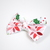 Large Cotton Bow Clip//Clip on Bow Tie - Holly Jolly Christmas