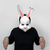 DIY Papercraft Bunny mask,Rabbitt mask,Party mask,lowpoly,3d papercraft,DIY