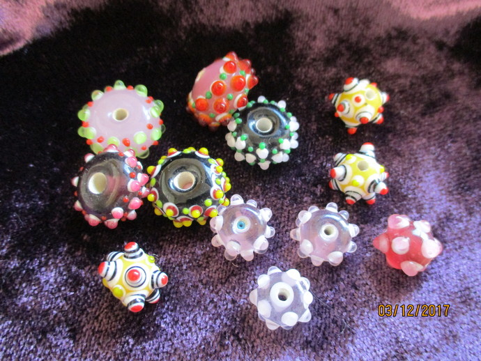 Pack of Lampwork Glass Beads