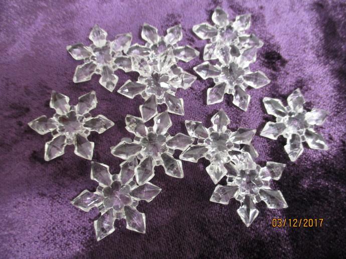 1 x 1.5 inch wide Acrylic Snowflake