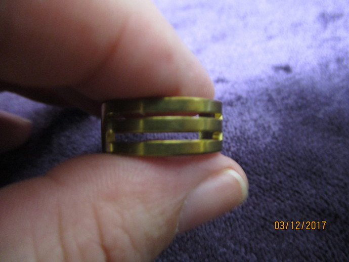 1 x Brass Split-ring Ring
