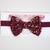 Little Guy Bow Tie - Maroon Snowflakes