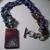 Chain and  Silk Ribbon Raku Pendant