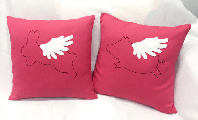 Color Choice. When Pig Flies In Christmas Decorative Red Pillow Cover Cushion