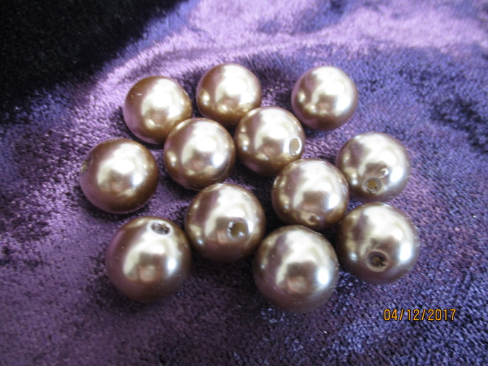 Bag Of 12mm Acrylic Pearl Beads