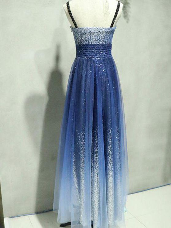Royal Blue Beading A-Line Elegant 2018 Prom Dresses,Prom Dresses,Formal Women