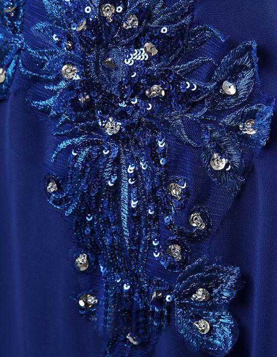 Appliques Royal Blue Elegant 2018 Prom Dresses,Prom Dresses,Formal Women