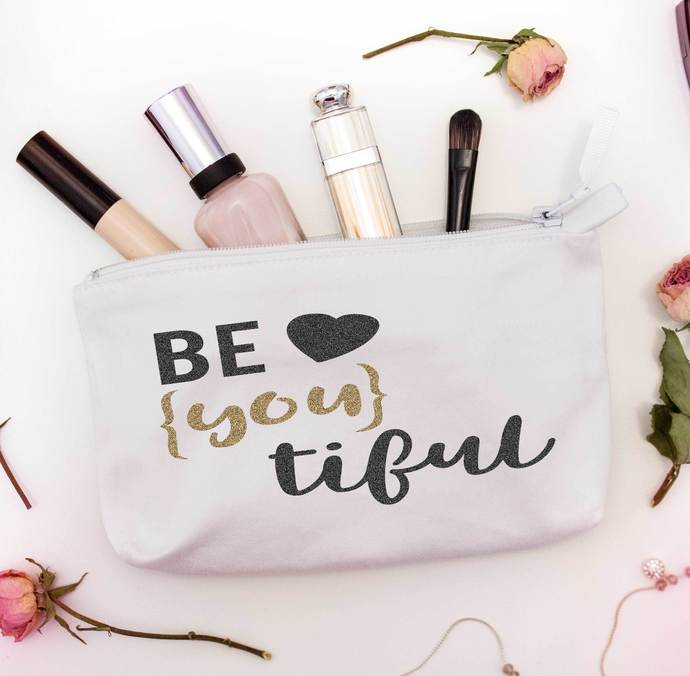 BeYouTiful custom cosmetic pouch, younique bags