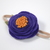 Felt Flower on Nylon Headband - Deep Purple with Amber Center