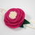 Felt Flower on Nylon Headband - Bright Pink with Cream Center