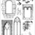 CASTLE WINDOWS - set of unmounted rubber stamps by Cherry Pie