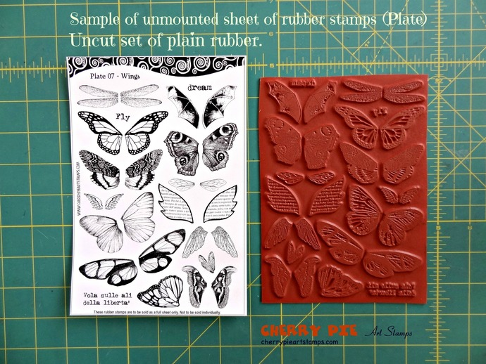 WoMAN FACE, eyes, portrait- unmounted RUBBER STAMPS set by Cherry Pie - PL45
