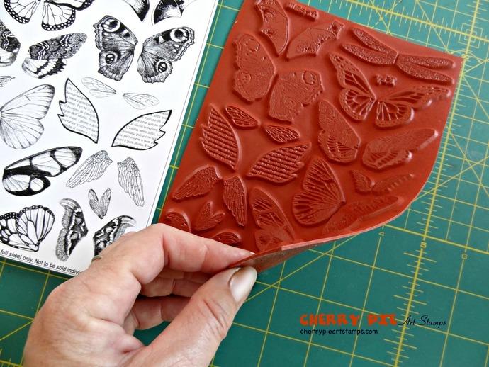 WINGS - butterflies, angels, bats, dragonfly WINGS set of unmounted rubber