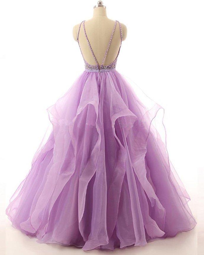 Backless Ball Gown Elegant 2018 Prom Dresses,Prom Dresses,Formal Women
