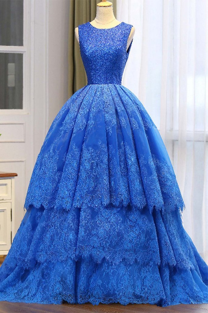 Blue Elegant Evening Dresses
