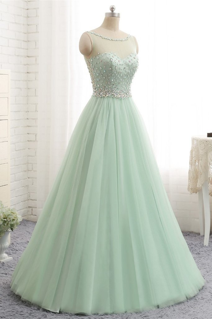 Mint Elegant 2018 Prom Dresses,Prom Dresses,Formal Women Dress,prom dress F92