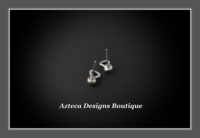 Sterling Silver Kettlebell Stud Post Hand Fabricated Earrings Crossfit Gym
