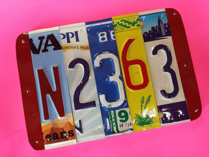 10 year anniversary gift U Pick the states license plate sign, 10 yrs aluminum