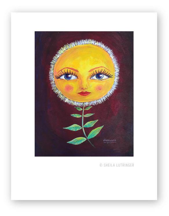 """Girasol"" original painting by Sheila Lutringer"