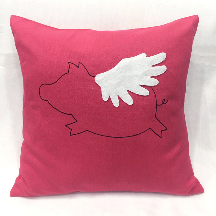 Color Choice. When Rabbit Flies In Christmas Decorative Red Pillow Cover Cushion