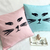Pick Your Color. Sassy Cat Light Peach Decorative Pillow Cover Cushion Cover.