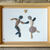 Pebble Art - Dancing Couple with Genuine Heart Shaped Pebble - Couple Gift -