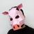 DIY Pig mask,Pig art,Party mask,lowpoly,3d papercraft,DIY animal mask,Papercraft