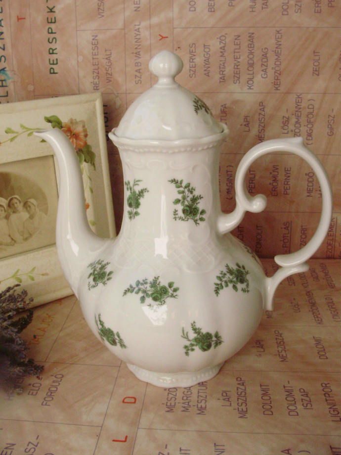 Large,Vintage German Bavaria porcelain teapot,stamped