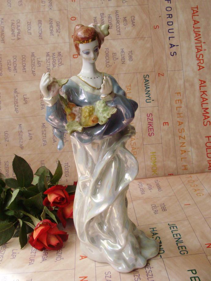 Vintage  porcelain  staue,ballerina,lady,women  ,handpainted,stamped