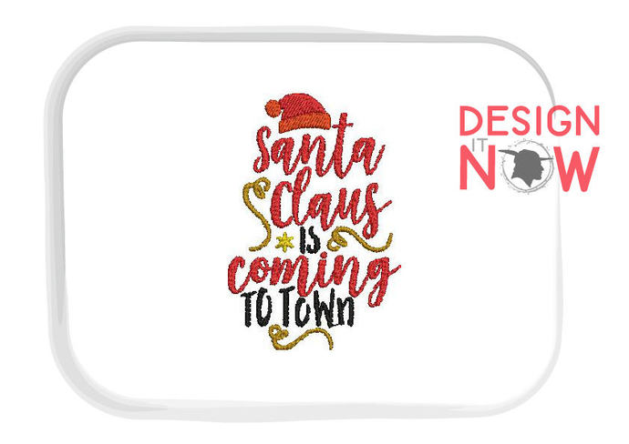 Christmas Saying Quote Machine Embroidery Design